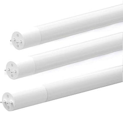 LED Tube Light DEBP8FT43W Frosted glass 8' cylindrical tube with 2 electrical prongs at each end. Installs into CFL fixture.