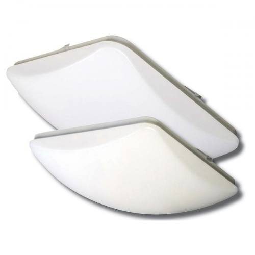 """24W LED Dome Light LEDS14 dimmable 14"""" square dome light molded from thermoplastic. 1805lm at 24W with 2 CCT options."""