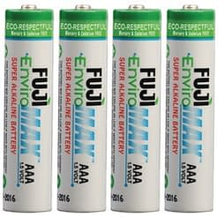 Fuji EnviroMax AAA Batteries, Case quantities 96 to 576 cells. Blister packs 2, 4, 8, 24 and 48 cells