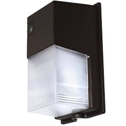 "LEDWPPC20W semi-cutoff mini-wall pack, 20W, 11""x7"" polycarbonate housing with fluted PC lens."