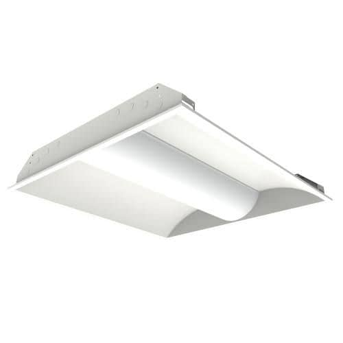 BCBLED22-30W LED troffer light with steel housing and acrylic lens, 2x2 foot, dimmable, 4 CCT options.