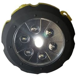 LightStorm SL1 Crank Lantern. Hockey puck size capacitor lantern. Spot, flood & strobe light.