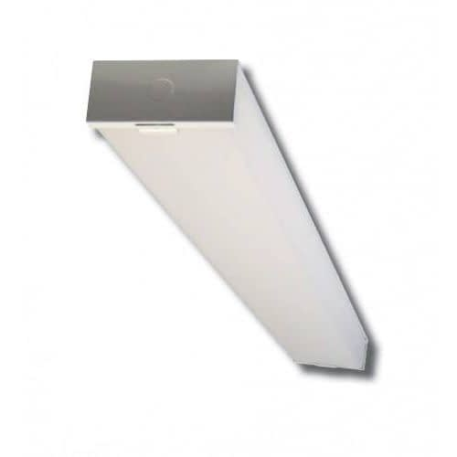 "BWALED4FT-40 Dimmable 40W LED light, 48""x7"", steel body, acrylic lens. Guide panels provide even light distribution."