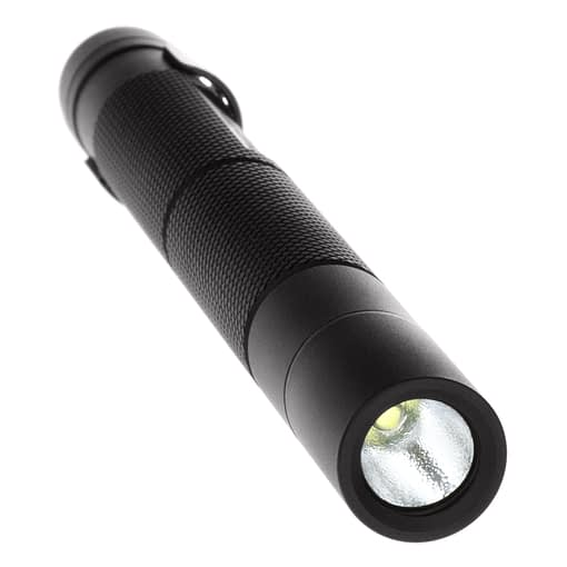 Mini-Tac MT100 Tactical Flashlight 5.4-inch water resistant aluminum body, .6-inch diameter, tail switch, 100lm white LED