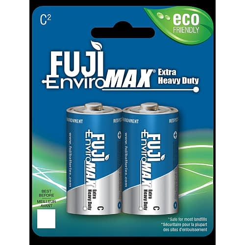 Fuji Battery 1200BP2, C Cell, Case quantity 96 cells, Blister pack 2