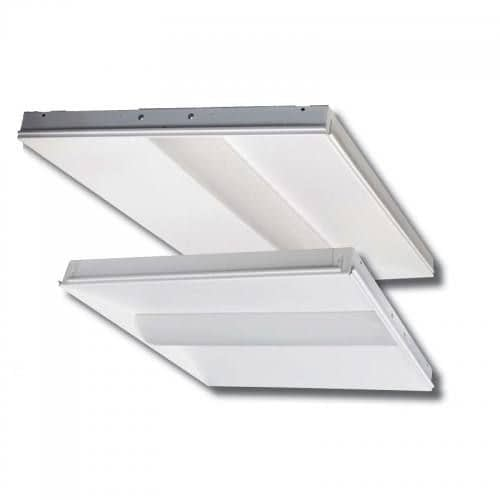 BCBLED24-40W LED troffer light with steel housing and acrylic lens, 2x4 foot, dimmable, 4 CCT options.
