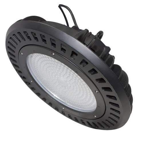 LEDHBRSN240 LED High Bay, 14x14x8 inch, 240W, round aluminum body, dimmable, 29,628lm, DLC Standard