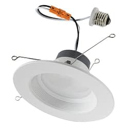 BRKLED56BW-XX-ECO thermoplastic downlight with Edison connector. Fits 5 and 6- inch light cans.