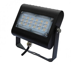 "LED Floodlight LEDMPAL30. DIMS 5""x7"", 30W, aluminum housing with heat resistant PC lens."