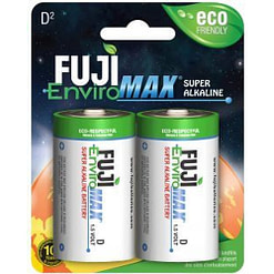 Fuji Enviromax D Cell Batteries 4100BP2, 4100BP4, 4100SP12 , Case quantities 96 and 144 cells.