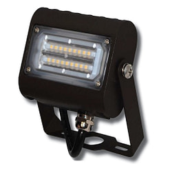 "LED Floodlight LEDMPAL15. DIMS 5""x4"", 15W, aluminum housing with heat resistant PC lens."
