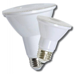 LED PAR38 Bulb LEDPAR3813WD 9W LED dimmable light bulb. Edison E-26 medium screw base fits standard socket.