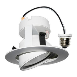 10W LED Gimbal Downlight BRKLED4GR Adjustable Beam Direction
