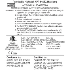 XPP-5456G Intrinsically Safe Headlamp - Certification