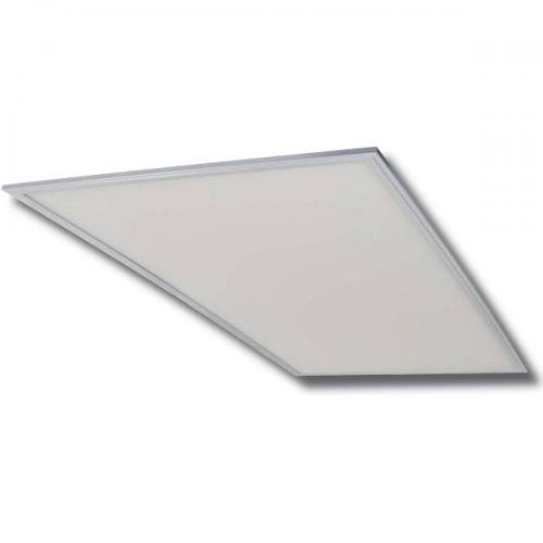 LEDPNL2X4-50W ultra-thin 2x4ft aluminum panel light with acrylic lens. 50W, Dimmable, Four CCT options.