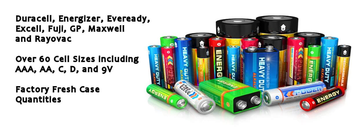 Wide Selection of Batteries