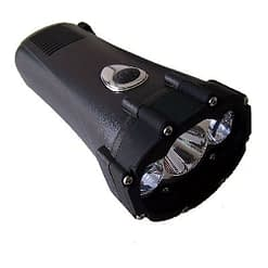 "Vortex Crank Flashlight, 7x3"", NiMH battery, ABS body, Operates as spot, flood and strobe light. Waterproof, Floats"