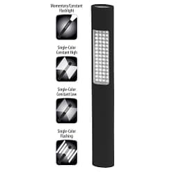 NSP-1166 Safety Light 11-inch polymer LED flashlight, white spotlight, white floodlight with high-low strobe. Dual operation.