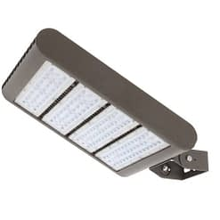 "LED Area Light LEDMPAL220. Flood or street luminaire. DIMS 12""x17"", 220W, aluminum housing with heat resistant PC lens."