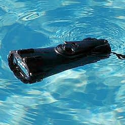 Vortex Crank Flashlight Floating in Pool