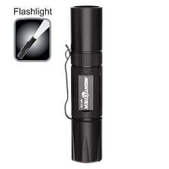 Mini-Tac MT110 Tactical Flashlight 3.9-inch water resistant aluminum body, .9-inch diameter, tail switch, 90lm white LED